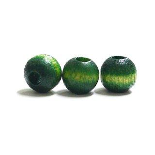 枝豆グリーングラデーションカラーウッド製6mmサークルビーズ、パーツ