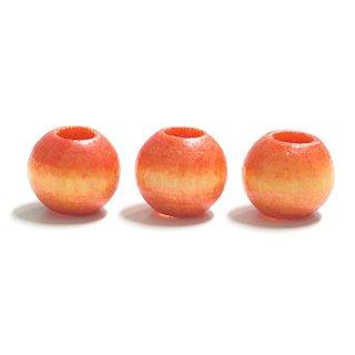 Orage Yellowオレンジイエローカラー8mm円形ウッド製ビーズ、パーツ