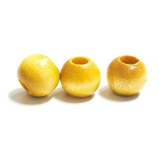 Mustard Yellowマスタードイエローカラー8mm円形ウッド製ビーズ、パーツ