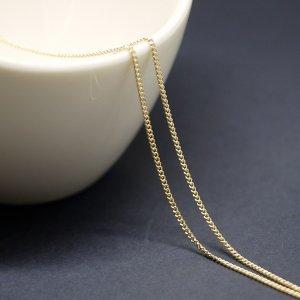 【1メートル 1meter】約1.3mm ゴールドプレート真鍮チェーン