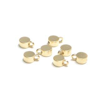【6個入り】約3mm円形マットゴールド留め金具、ストッパー