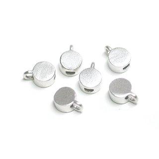 【10個入り】約3mm円形マッドシルバー留め具、金具、パーツ
