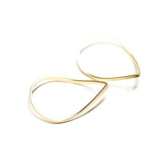 【2個入り】優美な曲線の3D立体的なマッドゴールドパーツ