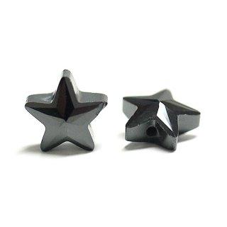 【1個】Onyx Blackオニキスブラックカラー星形キュービックジルコニア、ビーズ、パーツ
