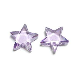 【1個】Lavendaラベンダーカラー星形キュービックジルコニア、ビーズ、パーツ