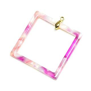 SALE【2個入り】ピンク系ミックスカラー約29mmチャーム、パーツ
