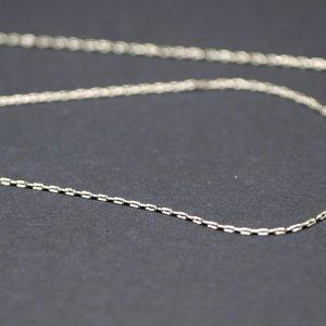 【1メートル 1meter】極細約0.48mm 純ロジウムシルバー真鍮チェーン