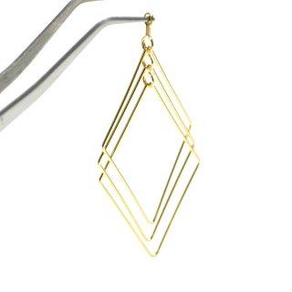 【2個入り】自由自在に動くTrio Diamond形ゴールドチャーム、パーツ