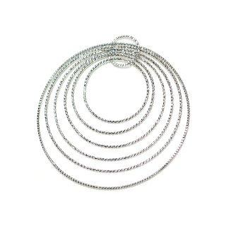 【1個】大きさ違いのSeven Ring サークル形シルバーチャーム、パーツ