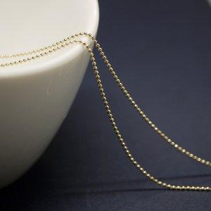 【2メートル 2meter】約1mm ボール Ball ゴールドプレート真鍮チェーン