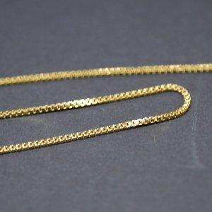 【1メートル 1meter】約0.9mm ボックス BOX ゴールドプレート真鍮チェーン