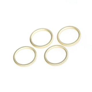 【4個入り】マッドゴールド16mm円形チャーム、パーツ