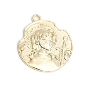 【1個】Vintageコインマッドゴールドペンダント、チャーム