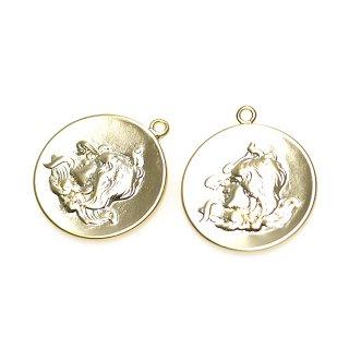 【1個入り】美の女神ヴィーナスVintageコインマッドゴールドペンダント、チャーム