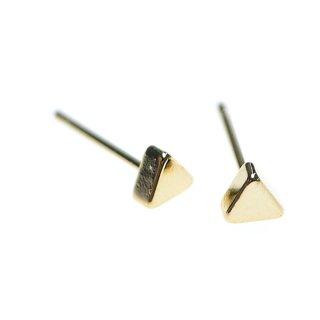 【4個(2ペア)】4mmプチトライアングル形(三角形)ゴールドピアス