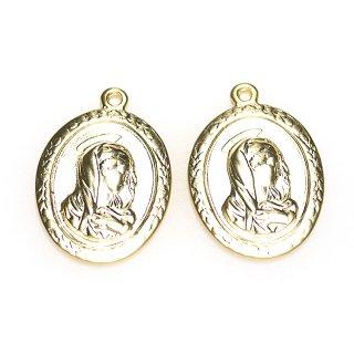 【1個】St.Maria 楕円形マッドゴールドペンダント、チャーム