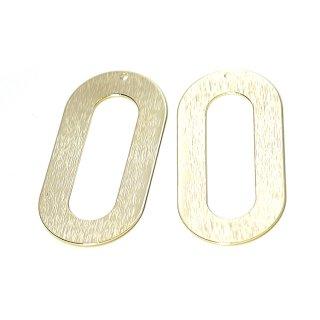 【4個入り】大ぶり&質感ある44mm楕円形ゴールドチャーム、パーツ