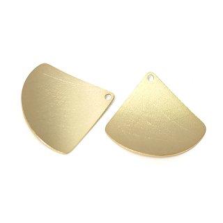 【2個入り】マッドゴールド曲線 Scratch Triangleチャーム、パーツ