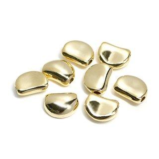 【4個入り】貫通!キュートな約10mm光沢ゴールドコネクター、パーツ