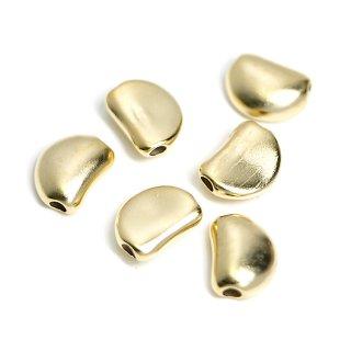 【4個入り】貫通!キュートな約10mmマットゴールドコネクター、パーツ