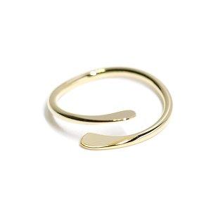 【2個入り】華奢なシンプルツイスト光沢シルバーフリーリング、指輪