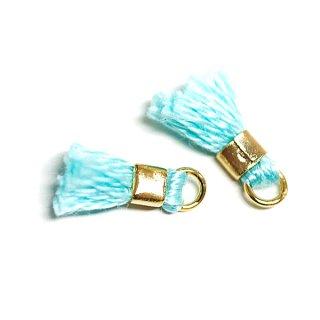 【6個入り】刺繍糸tasselライトミントカラーミニタッセル|ハンドメイド材料|アクセサリーパーツ