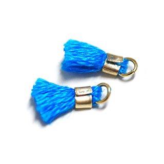【6個入り】刺繍糸tasselロイヤルブルーカラーミニタッセル|ハンドメイド材料|アクセサリーパーツ