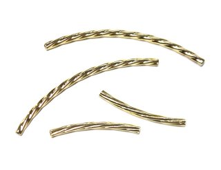 MIX【4個入り】約25mm、30mmツイストゴールドチャーム、パーツ