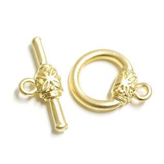 【1セット(1ペア)】Art Nouveuスタイル装飾付きマットゴールドマンテル 留め具、金具パーツ