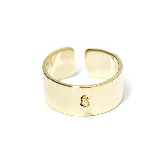 【2個入り】カン付き約8mm光沢ゴールドフリーサイズ指輪、リング製作パーツ