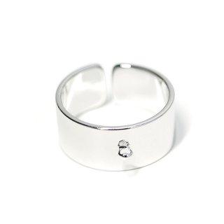 【2個入り】カン付き約8mm光沢シルバーフリーサイズ指輪、リング製作パーツ