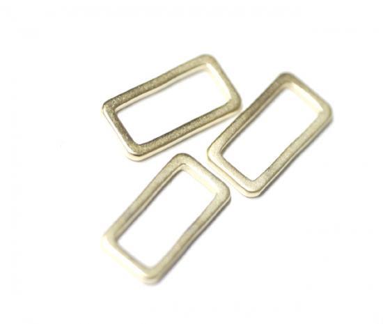 【4個入り】プチ長四角型マッドゴールド仕上げパーツ