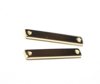 【2個入り】20mm Stick Bar connectorゴールドコネクター、チャーム
