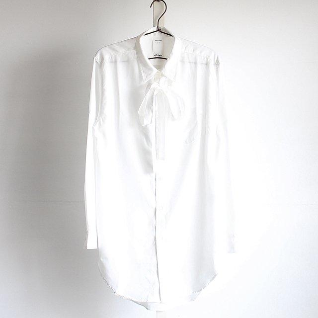 【albino】リボンタイ付きロングドレスシャツ