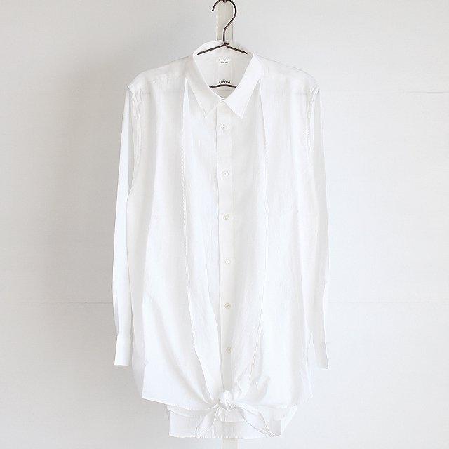 【albino】カシュクールアレンジフェイクレイヤードロングシャツ