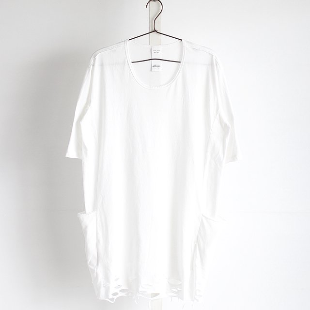 【albino】サイドポケット付きダメージヘムロングカットソー