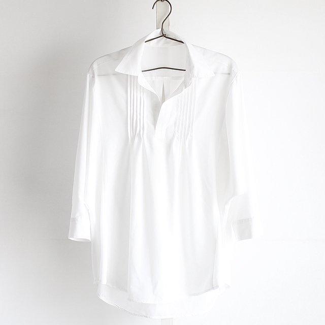 【albino】ピンタック入りドルマンスキッパーシャツ