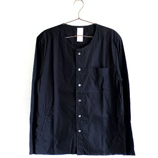 【albino】カットオフ×ワッシャー加工ノーカラーシャツ