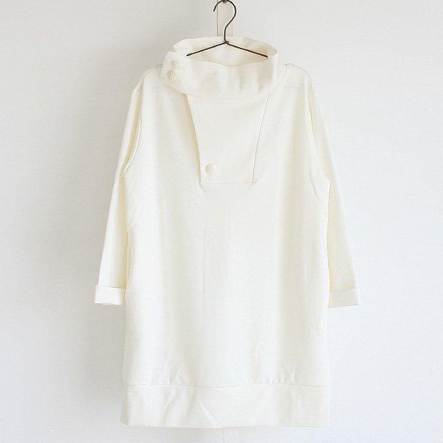 【albino】ボタン付きスタンドネックチュニック