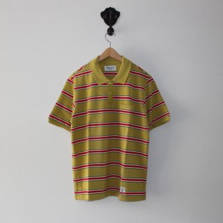 WACKO MARIA(ワコマリア) /STRIPED POLO SHIRT【MUSTARD-RED】