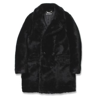 WACKO MARIA(ワコマリア) / FUR DOUBLE BREASTED COAT (TYPE-1)【BLACK】