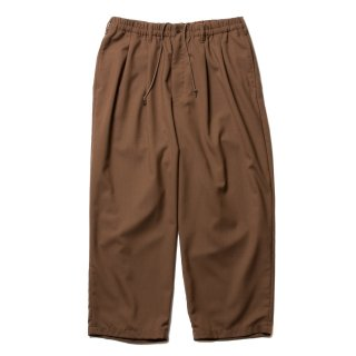 COOTIE(クーティー)/CTE-19A105 T/W 2 Tuck Easy Pants【BROWN】