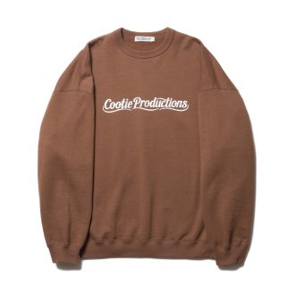 COOTIE(クーティー)/CTE-19S344 Print Crewneck Sweatshirt (LETTERED LOGO)【BROWN】