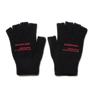 COOTIE(クーティー)/CTE-19A516 Fingerless Knit Glove【BLACK_RED】