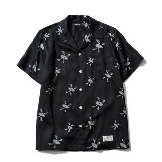 <img class='new_mark_img1' src='https://img.shop-pro.jp/img/new/icons50.gif' style='border:none;display:inline;margin:0px;padding:0px;width:auto;' />MINEDENIM(マインデニム) / WACKO MARIA × MINEDENIM Hawaiian Shirt【BLACK】