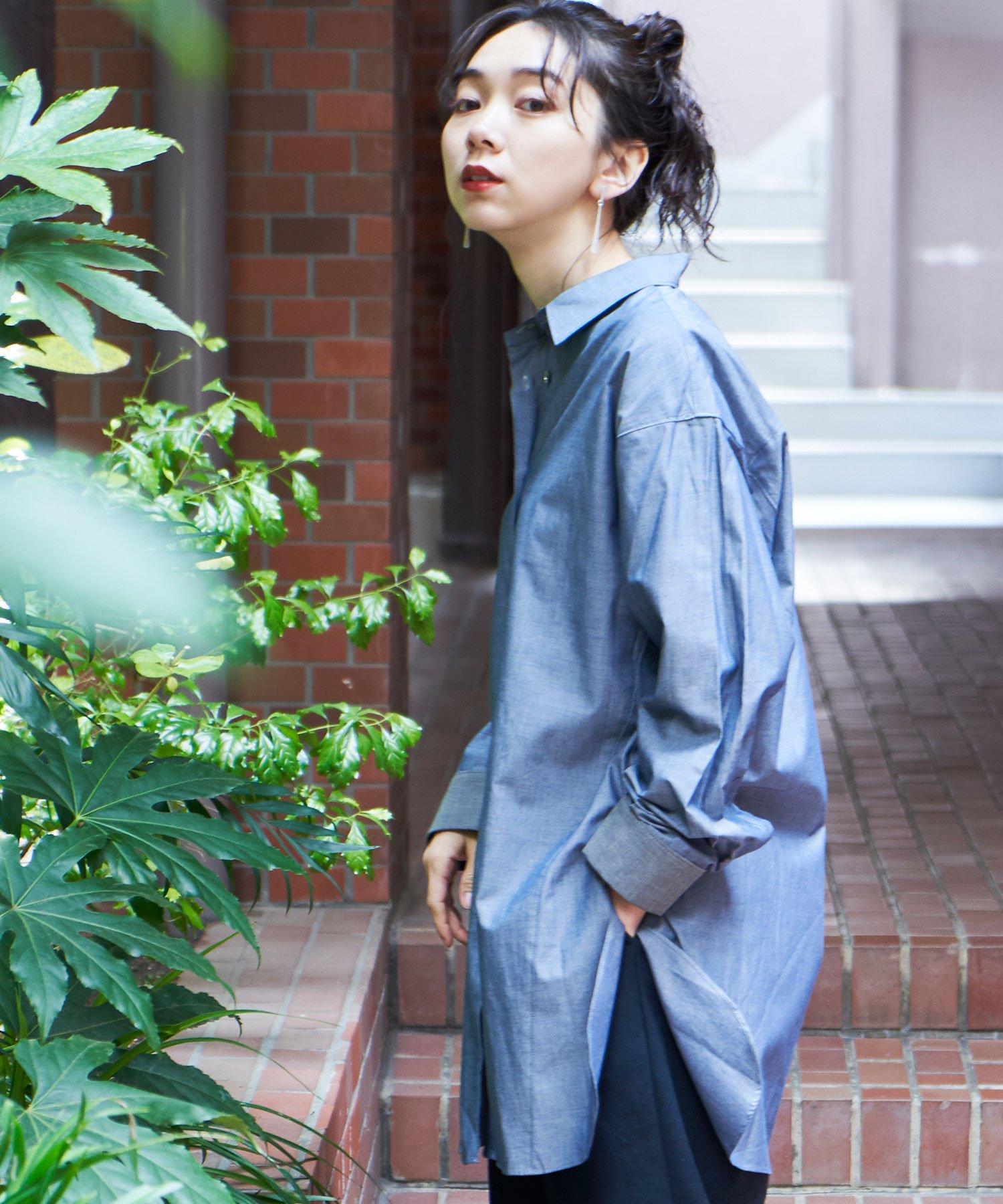 【REBIRTH PROJECT】OKIRAKU別注 オーガニックコットンロングシャツ