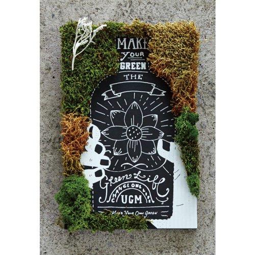 【URBAN GREEN MAKERS】GREEN ART BOTTLE FLOWER