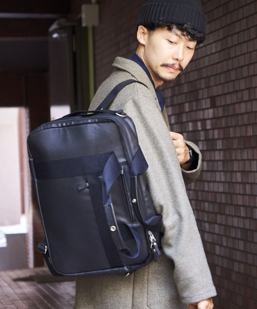 【QWSTION】Office Bag【Organic Jet Black】