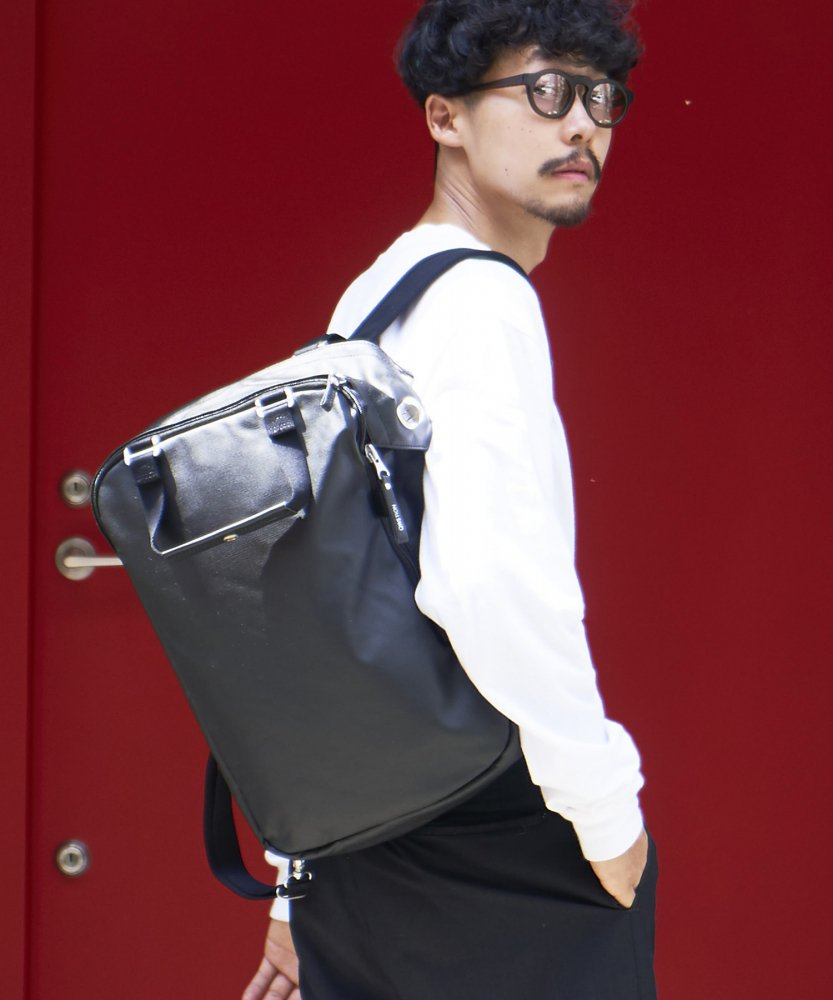 【QWSTION】Daypack Organic Jet Black(8月上旬お届け)