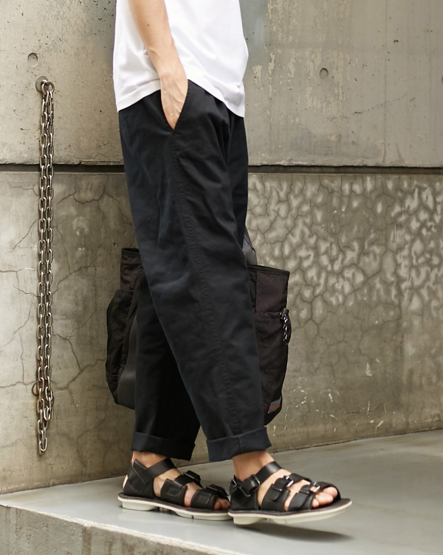 【REBIRTH PROJECT】Gramicci別注 Organic cottonワイドテーパードパンツ BLK